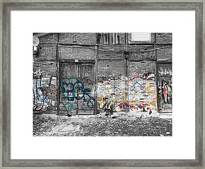 Warehouse In Lisbon Framed Print by Ehiji Etomi