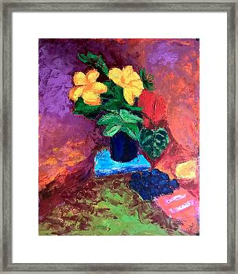 Framed Print featuring the painting Warm Combination by Nicolas Bouteneff