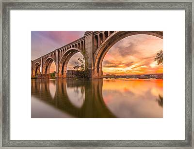 Warm Sunset At The A Line  Framed Print