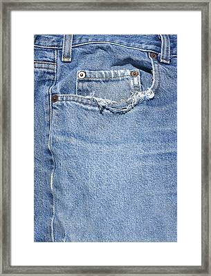 Worn Jeans Framed Print by George Robinson