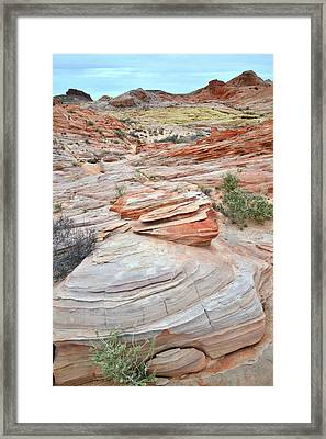 Framed Print featuring the photograph Wash 3 In Valley Of Fire by Ray Mathis