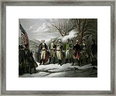 Washington And His Generals Framed Print by War Is Hell Store