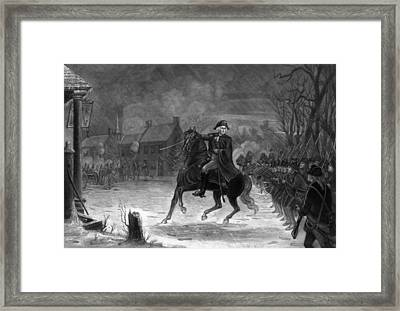 Washington At The Battle Of Trenton Framed Print