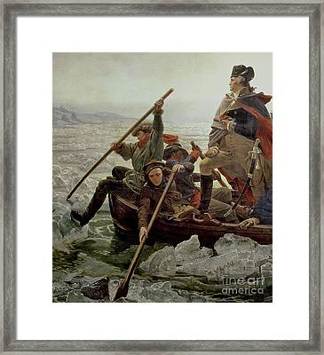 Washington Crossing The Delaware River Framed Print