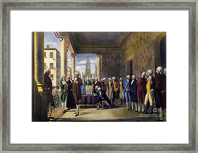 Washington: Inauguration Framed Print by Granger