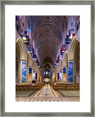 Washington National Cathedral - Washington Dc Framed Print by Brendan Reals