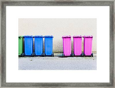 Waste Bins Framed Print