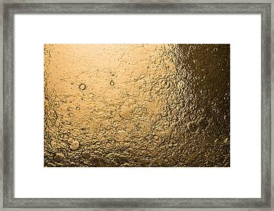 Water Abstraction - Liquid Gold Framed Print by Alex Potemkin