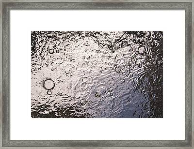 Water Abstraction - Liquid Metal Framed Print by Alex Potemkin