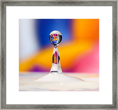 Water Drop Framed Print by Colin Rayner