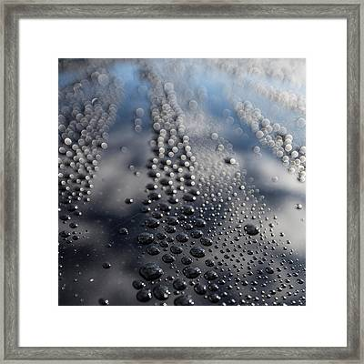 Water Droplets Framed Print by Panoramic Images
