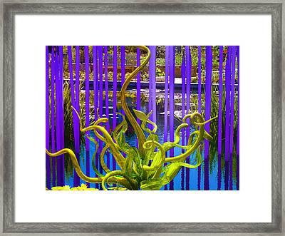 Water Fantasy Framed Print by Bobbie Barth