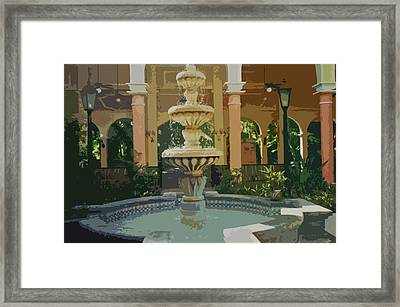 Framed Print featuring the digital art Water Fountain In Mexico by Tammy Sutherland