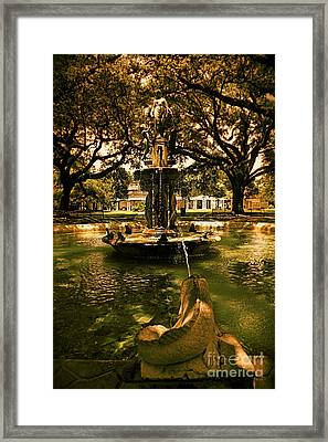 Water Fountain Framed Print by Janice Spivey