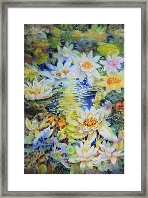 Water Garden Framed Print by Ann  Nicholson