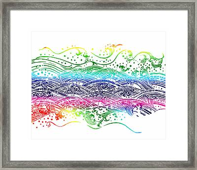 Water Pattern Framed Print by Setsiri Silapasuwanchai