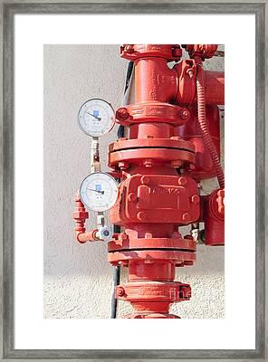 Water Pressure Gauge  Framed Print