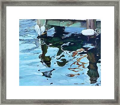 Water Reflections 1 Framed Print by Sandra Bellestri
