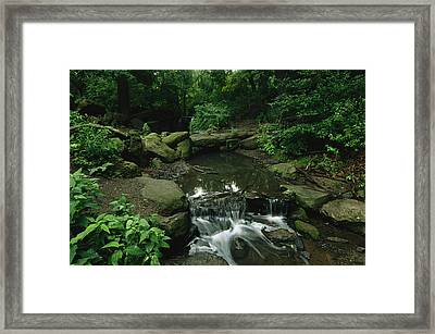 Water Splashes Over A Waterfall Framed Print by Melissa Farlow