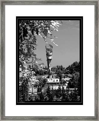 Water Tower Framed Print by Arik Baltinester