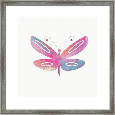 Watercolor Butterfly 2- Art By Linda Woods Framed Print