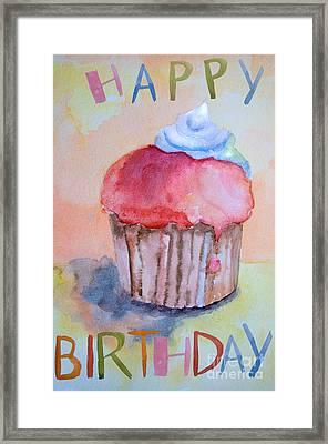 Watercolor Illustration Of Cake  Framed Print