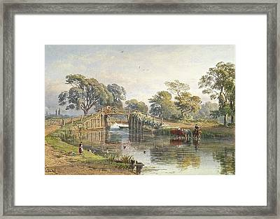 Watercolour Heightened With White Framed Print by MotionAge Designs