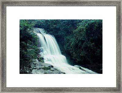 Waterfall Framed Print by Amarildo Correa