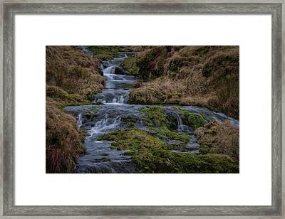 Framed Print featuring the photograph Waterfall At Glendevon In Scotland by Jeremy Lavender Photography