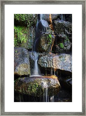 Waterfall Framed Print by Carlos Caetano