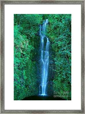 Waterfall Close-up Framed Print by Bill Brennan - Printscapes