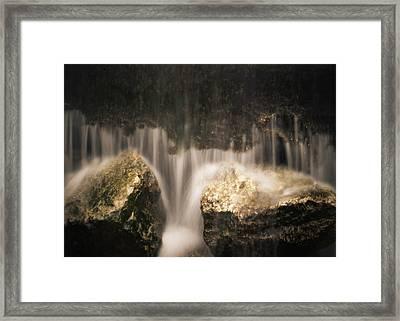 Waterfall Detail Framed Print by Scott Meyer