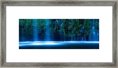 Waterfall In A Forest, Mossbrae Falls Framed Print by Panoramic Images