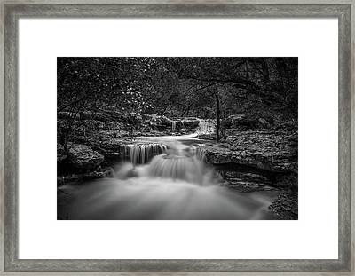Framed Print featuring the photograph Waterfall In Austin Texas by Todd Aaron