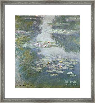Waterlilies Framed Print by Claude Monet