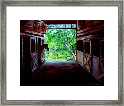 Water's Edge Farm Framed Print by Jack Skinner