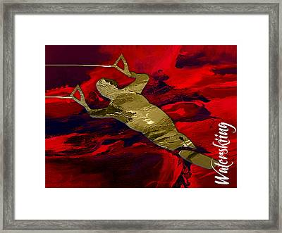 Waterski Collection Framed Print by Marvin Blaine