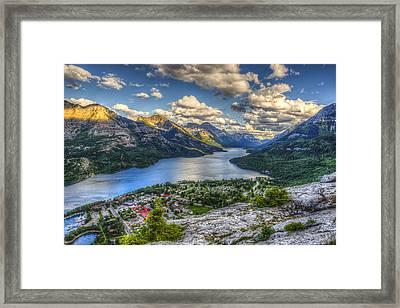 Waterton National Park Framed Print