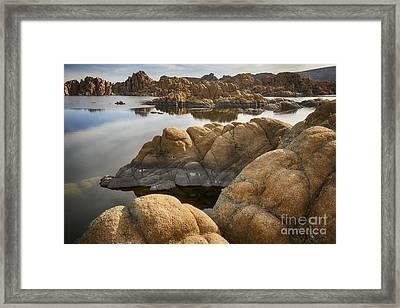 Watson Lake Arizona 13 Framed Print by Bob Christopher