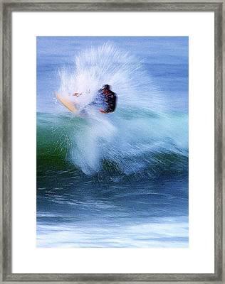 Wave Blaster Framed Print by Ron Regalado