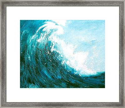 wave I Framed Print by Martine Letoile