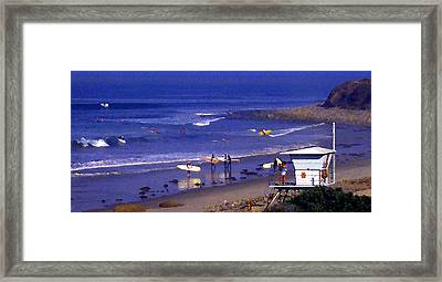 Wave Riding At County Line Framed Print by Ron Regalado