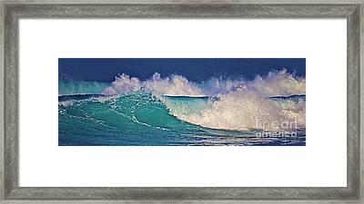 Waves Breaking Framed Print
