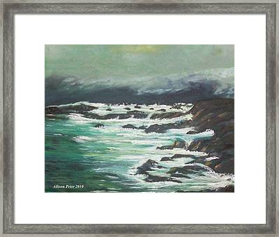 Waves In The Cove Framed Print by Allison Prior