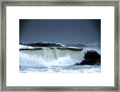 Waves Rolling In Framed Print