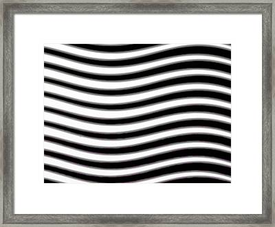 Wavy Stripes Framed Print by Gina Lee Manley