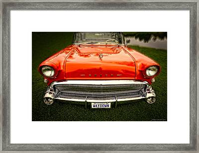 Waydown Framed Print by Jerry Golab