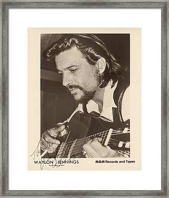 Waylon Jennings 1971 Signed Framed Print