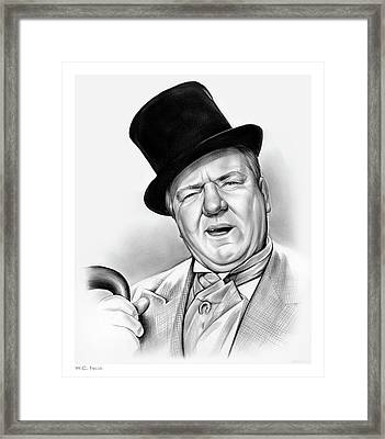 Wc Fields Framed Print by Greg Joens