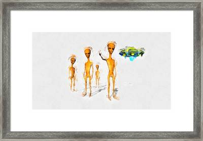 We Come In Peace Framed Print by Esoterica Art Agency